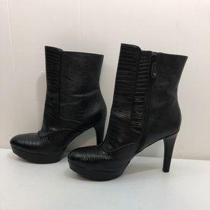 Rockport Stiletto Leather Platform Boots